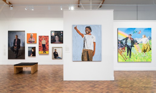 Installation view, 2017 Archibald Prize, An Art Gallery of NSW touring exhibition