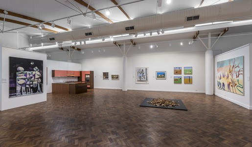 Installation view, 'Sauced Material'. Image Ashley Markevicius Photography.