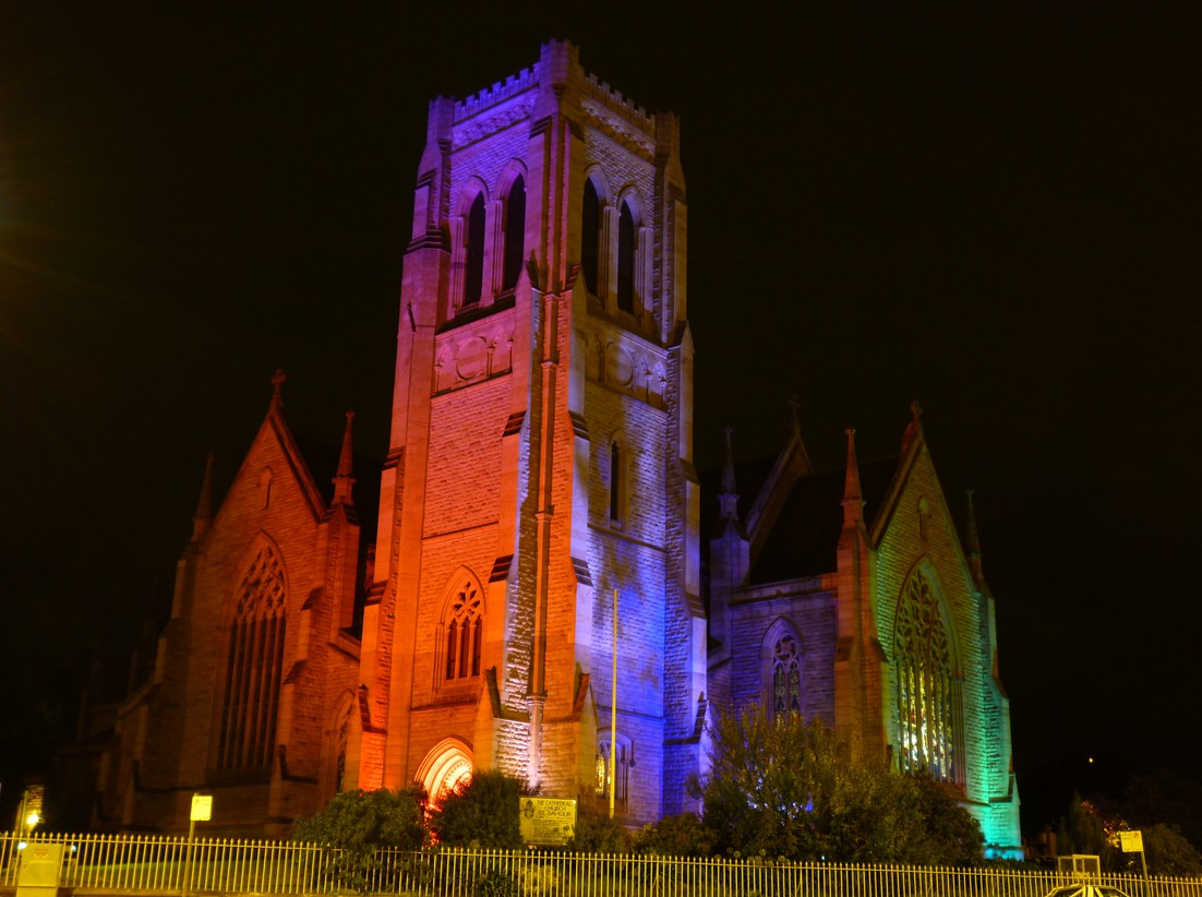 Light Projection St Saviour's Cathedral